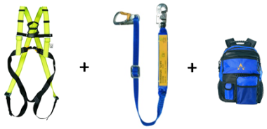 Sicherheitsgeschirr für Hubarbeitsbühnen (PSAgA) inkl. Rucksack
