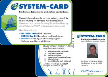 SystemCard Bedienerausweis Arbeitsbühnen