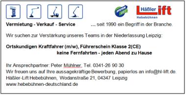 Stellenanzeige Leipzig
